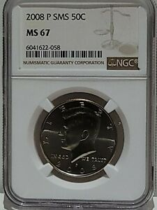 2008 P SMS KENNEDY HALF DOLLAR NGC MS-67 Pop 68 w/31 finer