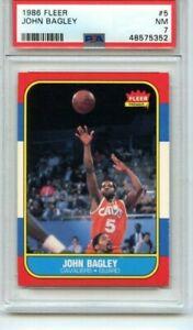 1986 Fleer Basketball John Bagley #5 SHARP JUST GRADED  PSA 7