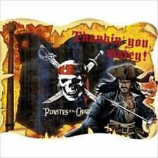 PIRATES OF THE CARIBBEAN INVITATIONS (8) ~ Birthday Party Supplies Stationery