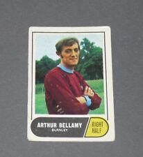 A & BC GUM CARD FOOTBALL ENGLAND 1969 ARTHUR BELLAMY BURNLEY THE CLARETS