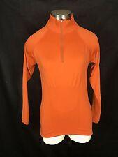 Women's Patagonia Capilene Top 1/4 Zip Pullover Long Sleeve Base Layer Orange S