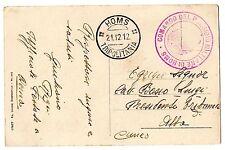 CARTOLINA 1912 PM HOMS TRIPOLITANIA 21/12 RIF. 10939