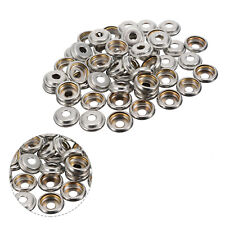 15mm Silver Snap Fastener Press Studs Socket Only for DIY Sewing Handbag Clothes