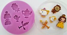 BEAUTY AND THE BEAST 002 SILICONE MOULD FOR CAKE TOPPERS CHOCOLATE, CLAY ETC