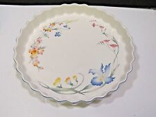 """VILLEROY & BOCH RIVIERA QUICHE Tart Fluted Dish 11-5/8"""" Floral Pan Plate"""