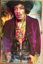 Jimi Hendrix Original Vintage Poster Hat And Jacket Music Memorabilia Pin Up