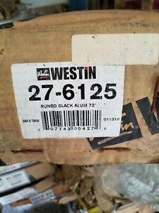 New Westin 27-6125 Sure Grip Black Aluminum Running Board-Limited Westin 27-6125