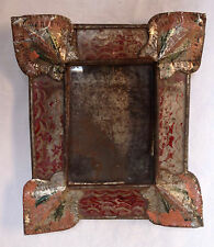 Mexican Tin Nicho with painted glass panels