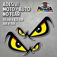 ADESIVI STICKERS OCCHI NO FEAR SBK MOTOCROSS MOTO AUTO CASCO CARROZZERIA TUNING