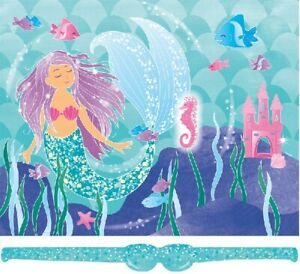MERMAID PARTY GAME - up to 14 players CHILDREN'S GIRLS - PIN(stick) THE SEAHORSE