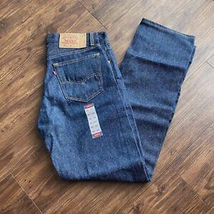 """Vintage 90s Deadstock Levis 501xx Blue Denim Jeans Button Fly Mens 35"""" x 34"""" USA"""