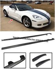 ZR1 Style Carbon Fiber Rocker Panels Side Skirts Kit For 05-13 Corvette C6 Z06
