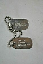 GI Joe Dog Tags Snake Eyes Classified Commando With Chain