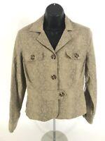 Worthington Petite Suit Blazer NEW Sz 10P Khaki Tan Pattern Lined NWT $86