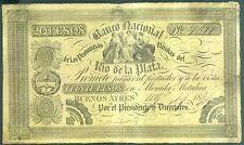 ARGENTINE (PICK SPECIALISE S.372a) 29-8-1834 BILLETS DE 20 PESOS BUENOS AYRES