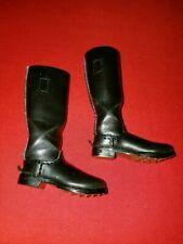 1/6 GERMAN WW2 WHERMACHT LEATHER BLACK HIGH RISE BOOTS. FROM ALERT LINE
