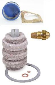 """Oil Burner Tune Up Kit 1.00 Gallon 60° Solid Nozzle, Filter And """"A"""" Pump Screen"""