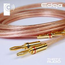 4m CUSTOM MADE Terminated 2.5mm² Speaker Cable (OFC Cable & BP1 Banana Plugs)