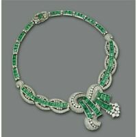 "20 Ct Baguette Cut Emerald Diamond 16"" Women's Tennis Necklace 14K White Gold Fn"