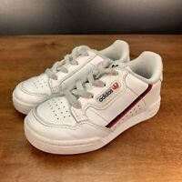Toddler Adidas Continental 80 Athletic Shoes White/Red Size 8K G28218
