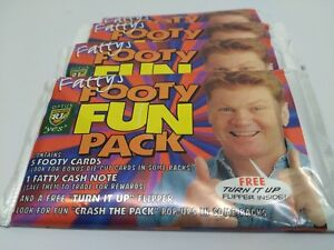 """1997 NRL Dynamic Rugby League Fattys Footy Fun Pack1 """"UNOPENED""""flipper inside"""
