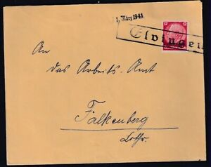 Dt.Besetzung 2.Weltkrieg, Lothringen, EF. Mi.-Nr  7, mit Notstempel Eldingen