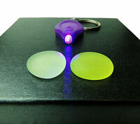 Uranium Glass - 2 Specimens & 1 UV Light - Geiger Counter Check Source (000023)