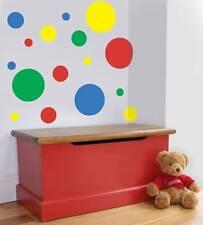 44 Multi-coloured room/nursery spot wall vinyl stickers