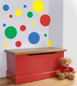 44 Multi-coloured room/nursery spots dots bubbles wall/car vinyl stickers