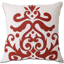 baroque small white and red cushion covers