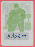 2016-17 Gabriel Fortier Leaf Metal Yellow Printing Plate Rookie Auto 1/1 - Tampa