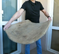 Incredible 1800's Primitive Wooden Hand-hewn Dough bowl plate tray Trencher RARE