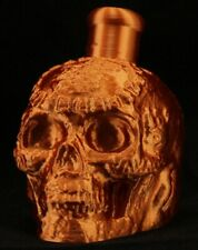 Mayan / Aztec Death Whistle Bright Copper Skull * Made In Usa *