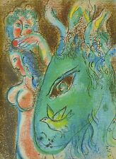 "MARC CHAGALL BIBLE ""Paradise"" HAND NUMBERED LITHOGRAPH M233"