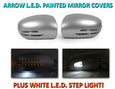 USA 03-06 W211 E Class Arrow LED Side Painted Silver Mirror Cover+LED Step Light