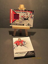 2010-11 Panini All Goalies Stopper Sweaters  Red #6 Craig Anderson + 13 Base