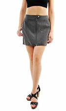 Free People Women's Get Into The Groove Faux Suede Skirt Grey UK8 RRP £98 BCF69