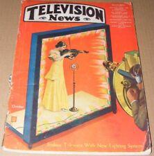 Television News magazine September 1931 Vol. 1 #4 Hugo Gernsback  RARE