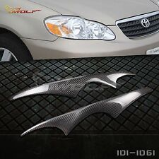 JDM Real Carbon Fiber Eyebrow Eyelid Headlight Cover for Toyota Corolla 03-2008
