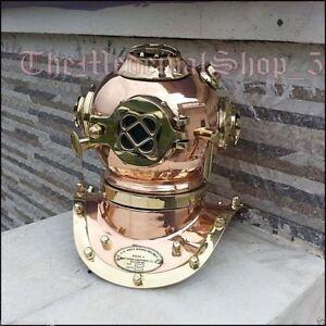 Deep Sea Divers Helmet Scuba Mini Diving Helmet U.S.Navy Mark IV Copper & Brass