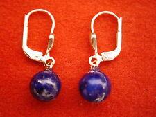 schöne Lapis Lazuli Ohrhänger Gold 333, Ohrhänger Gold 333 mit Lapiskugel 6 mm