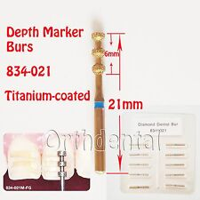 10Pcs Multi-Use Diamond Burs Depth Marker Depth Cutter 834/021 Medium Grit