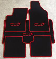 Autoteppich Fußmatten Kofferraum Set für Fiat 500x ab2014' weinrot rot 5tlg Neu