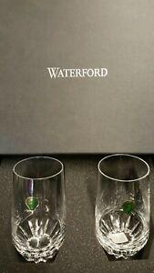 Waterford Irish Dogs Hiball Glasses Set 2 Piece, New.