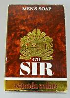 4711 SIR Canada Ceder 1 Stück vintage Herren Seife 4345 mit BPZ
