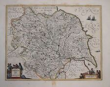 YORKSHIRE. DUCATUS EBORACENSIS BY JANSSONIUS. 1646.