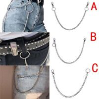 Punk Extra Long Hipster Key Wallet Belt Ring Clip Chain keychain 3 Types_ti