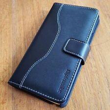 Fliptroniks Black Samsung Galaxy Note 4 Genuine Leather Case