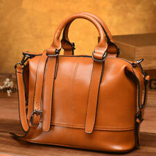 100% Genuine Leather Women's Elegant Handbags Sling Shoulder Bag Satchel Tote