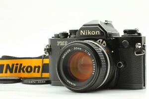 [N MINT w/Strap] Nikon FM2 Black Film Camera Ai-s AIS 50mm f/1.4 Lens From JAPAN